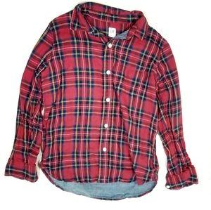 GAP KIDS Size L (10) long sleeve plaid shirt